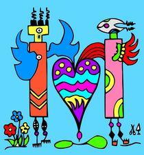 Rainbowangels. Blau. von Hans-Peter Scherbaum