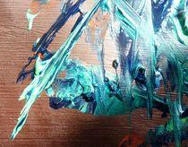 Farbstruktur blau von Martin Uda