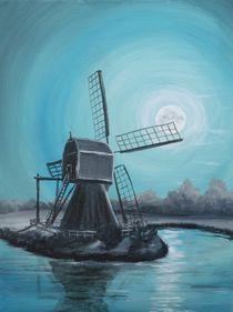 Mühle bei Nacht  von Barbara Kaiser