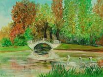 Wolfsbrücke im Wörlitzer Park von Barbara Kaiser