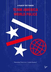 No475 My Team America minimal movie poster by chungkong