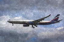 Aeroflot Airbus A330 Art von David Pyatt