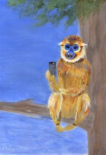 Sammy the Snub Nosed Golden Monkey by Jamie Frier