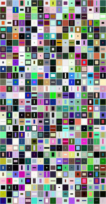 527 rectangles von Vasilis van Gemert
