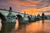 Sunrise in Prague von Michael Abid