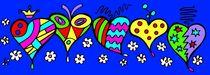 Herzen auf Blumenwiese von Hans-Peter Scherbaum