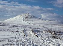 Shutlingsloe hill covered in snow near Wildboarclough Macclesfield by Chris Warham