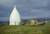 White Nancy Monument over looking Bollington, England by Chris Warham