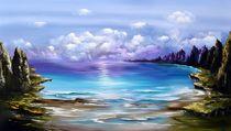 Tropischen Küste by Gena Theheartofart
