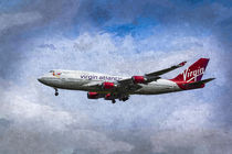 Virgin Atlantic Boeing 747 Art von David Pyatt