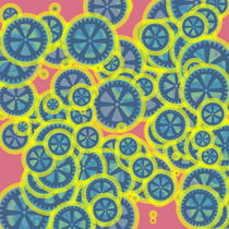 Blue gearwheels von Gaspar Avila