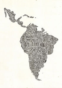 Lettering map of Latin America 2015 by Mariana Beldi