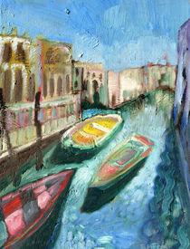Three Boats Venice von Elizabetha Fox