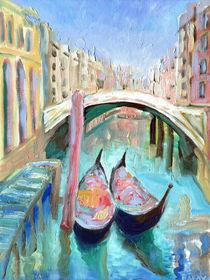 Two Gondolas Venice  von Elizabetha Fox