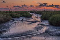 Priel in der Abenddämmerung von nordfriesland-und-meer-fotografie