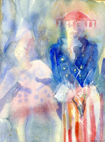 Vogue Watercolour Painting von Elizabetha Fox