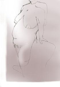 Lady leaning on a Chair  by Elizabetha Fox