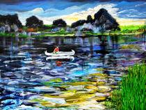 Das weiße Kanu / The white canoe von Eberhard Schmidt-Dranske