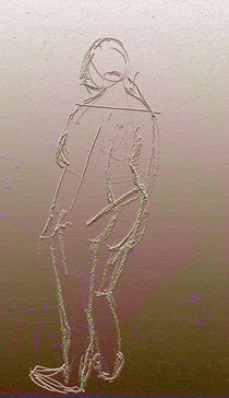 Standing Nude  by Elizabetha Fox