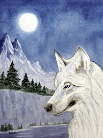 The-lone-wolf-painting