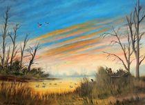 Evening Duck Hunters by bill holkham