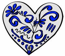 Herz mit Bembelmuster von Hans-Peter Scherbaum
