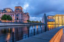 Reichstag an der Spree II von elbvue von elbvue