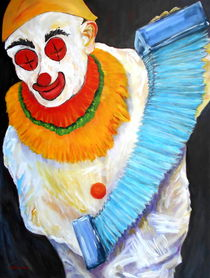Clown mit Bandoneon von Eberhard Schmidt-Dranske