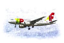 Air Portugal Airbus A319 Art by David Pyatt