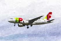 Air Portugal Airbus A319 Art by David Pyatt