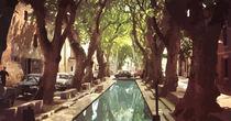 French Village with Pool  von Elizabetha Fox