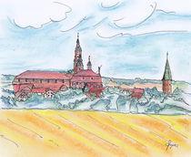 Bad Windsheim übern Weizenfeld von Thomas Spyra