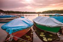 Zwei Boote im Sonnenuntergang von Pascal Betke