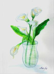White Calla Lilies von Linda Ginn