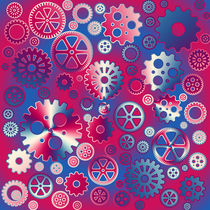 Colorful metallic gears by Gaspar Avila