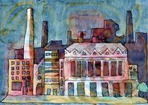Textile Mill Watercolour Painting Original  von Elizabetha Fox
