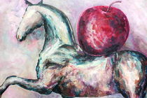 Horse with apple by Elisaveta Sivas