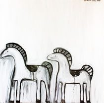 Two-small-horses-100-x-100-cm-oil-on-canvas-2011