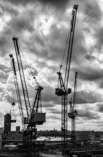 Tower Cranes on City of London Skyline by Graham Prentice