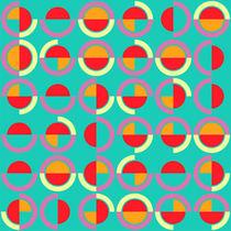 Semicircles and arcs pattern by Gaspar Avila