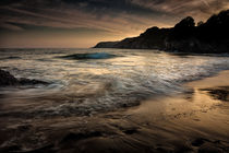 Dusk at Caswell Bay by Leighton Collins