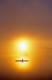 Transforming Sunrise with Kayaker by Jim Corwin