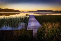 Pier im Sonnenuntergang von Arne Tiedemann