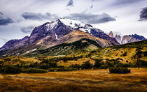 Gebirge im Torrel del Paine Nationalpark von Arne Tiedemann