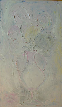 Vintage / Shabby Blumenvase  by Angelika Taubenheim