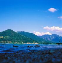 TEGERNSEE. Enten schwimmen auf dem See. von li-lu