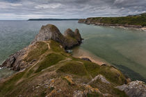 Three Cliffs Bay and the Great Tor von Leighton Collins