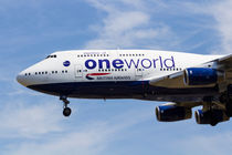 One World Boeing 747 von David Pyatt