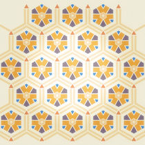 Abstract Geometric Kids Pattern von cinema4design