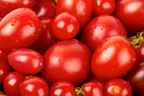 Hintergrund aus Toamten - Background made of tomatoes von Thomas Klee